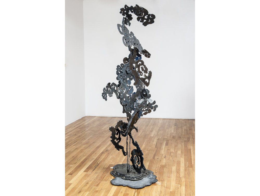 BalancedMan?, 2014, Steel and Enamel