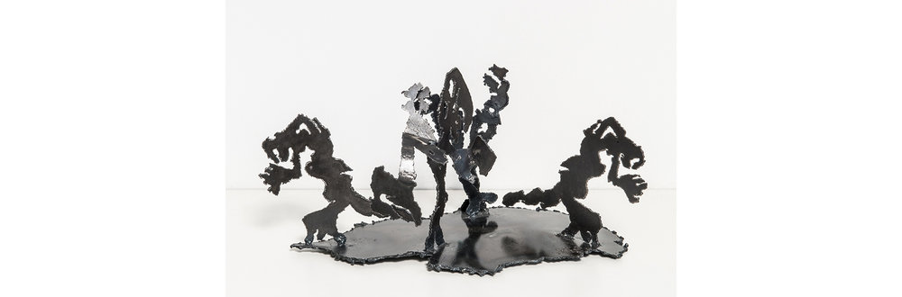 Bushwick III - Escape, 2016, Steel andEnamel, 9.5 x 18 x 10.5 inches