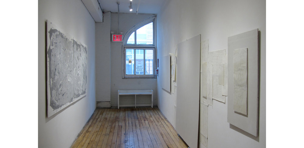 Installation View of Ancient Alphabet and The Organizing Principal/Evolution, 2017