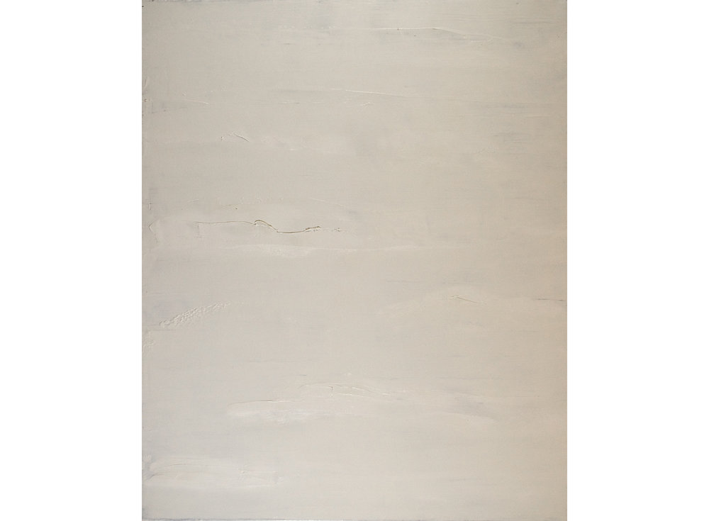 Knifed White, 2015, Oil on Linen, 34x28 inches