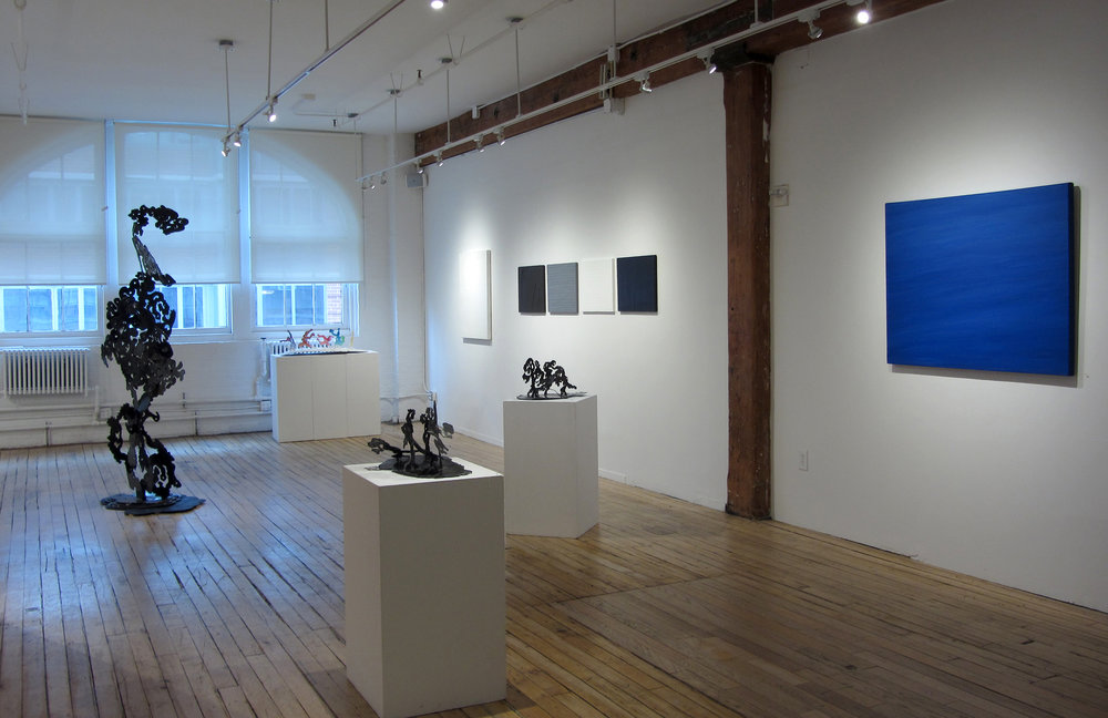 Installation View of Examining Movement & Gestures