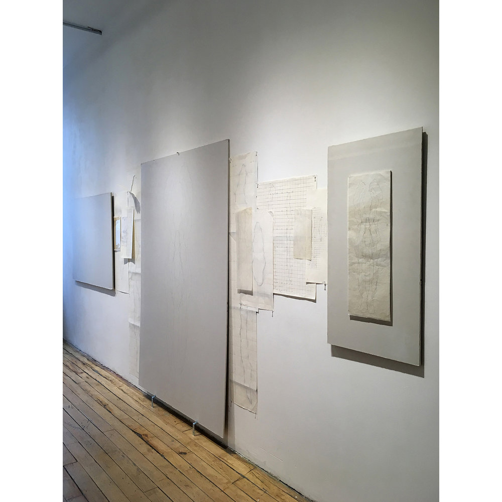 Installation View of On the Wall