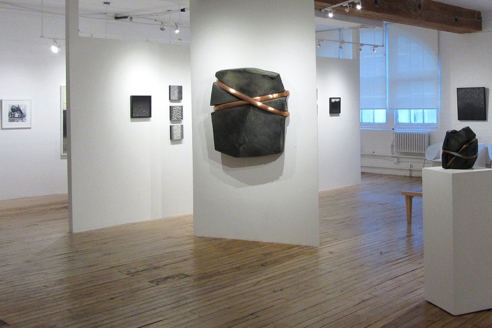 October 5 - 26, 2017 - In the Dark, Packages and Shadows: Werner Bargsten and Charles RamsburgCarts: Danny TuritzOn the Wall: Edward Fausty