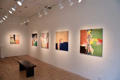 August 23 - September 13, 2018 - Painted Verse: Barbara Coleman and Steve SilverContinuation of Color and Abstraction: Emily RichOn the Wall: Azita Ghafouri