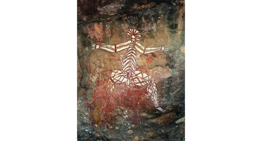 2. Leon Yost, The Dangerous Man, Pigment print of Aboriginal pictograph, 24 x 20 inches, 2018.jpeg