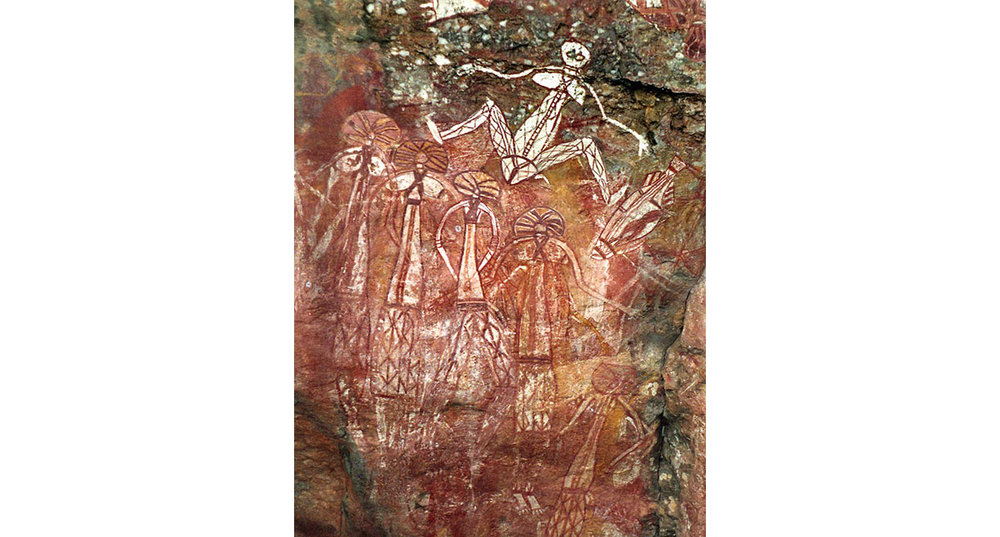 1. Leon Yost All Mother Pigment print of Aboriginal pictographs, 24 x 20 inches, 2018.jpeg