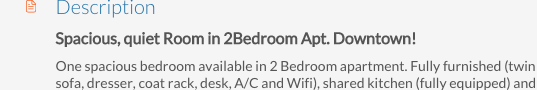 Good title for your rental ad