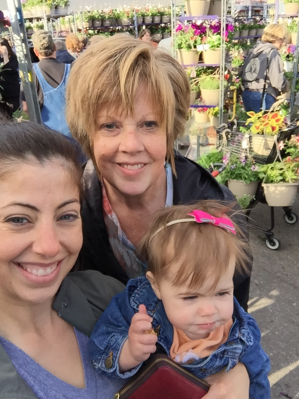 My mom, Isla & me hitting it big at a plant sale.