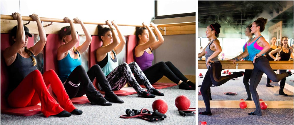 Body weight and resistance movements at Pure Barre tone and tighten lean muscles. Photos by Pure Barre
