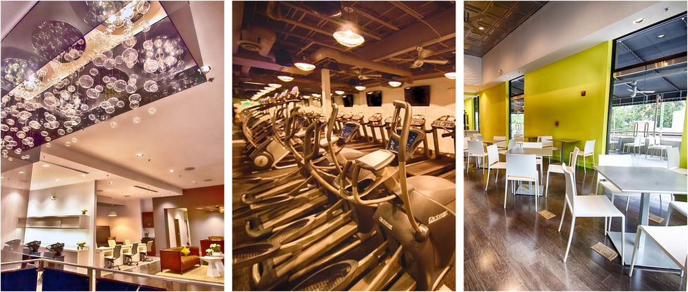 A variety of amenities at ROC House make your workout a luxury experience. Photos by ROC House Women's Fitness Spa