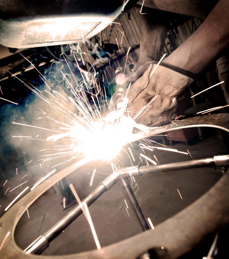 Stool welding.