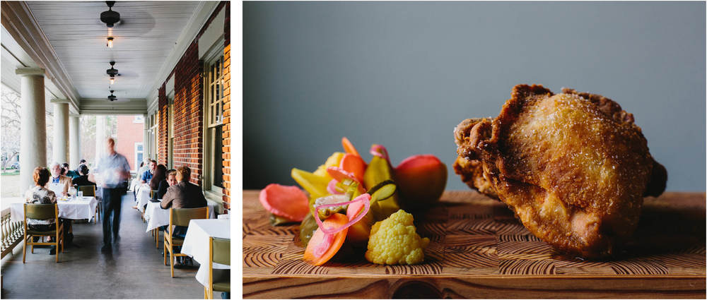 FIVE & TEN: The front porch is almost as heavenly as the food.Photos by Andrew Thomas Lee.