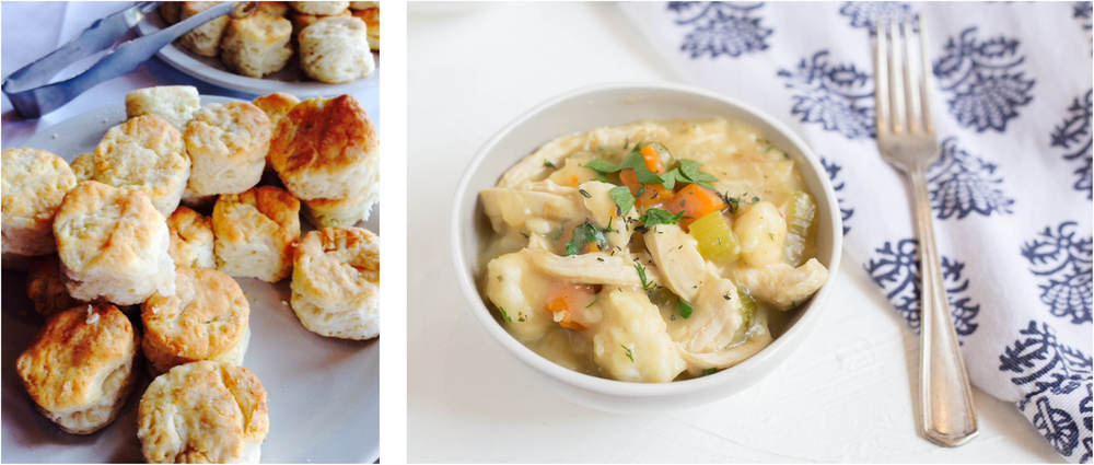 WATERSHED: Dreamy biscuits and Zeb Stevenson's Chicken and Dumplings.