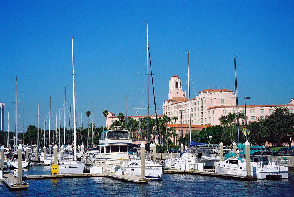 The marina and hotel.
