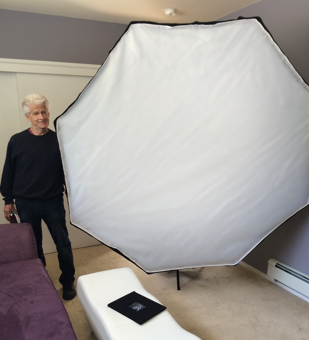By putting an 8 foot softbox in my 10x12 foot room, I've basically turned my room into a softbox!