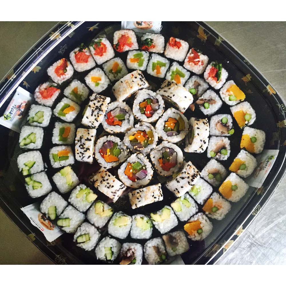 The Veggie Roll & Maki Platter - £28