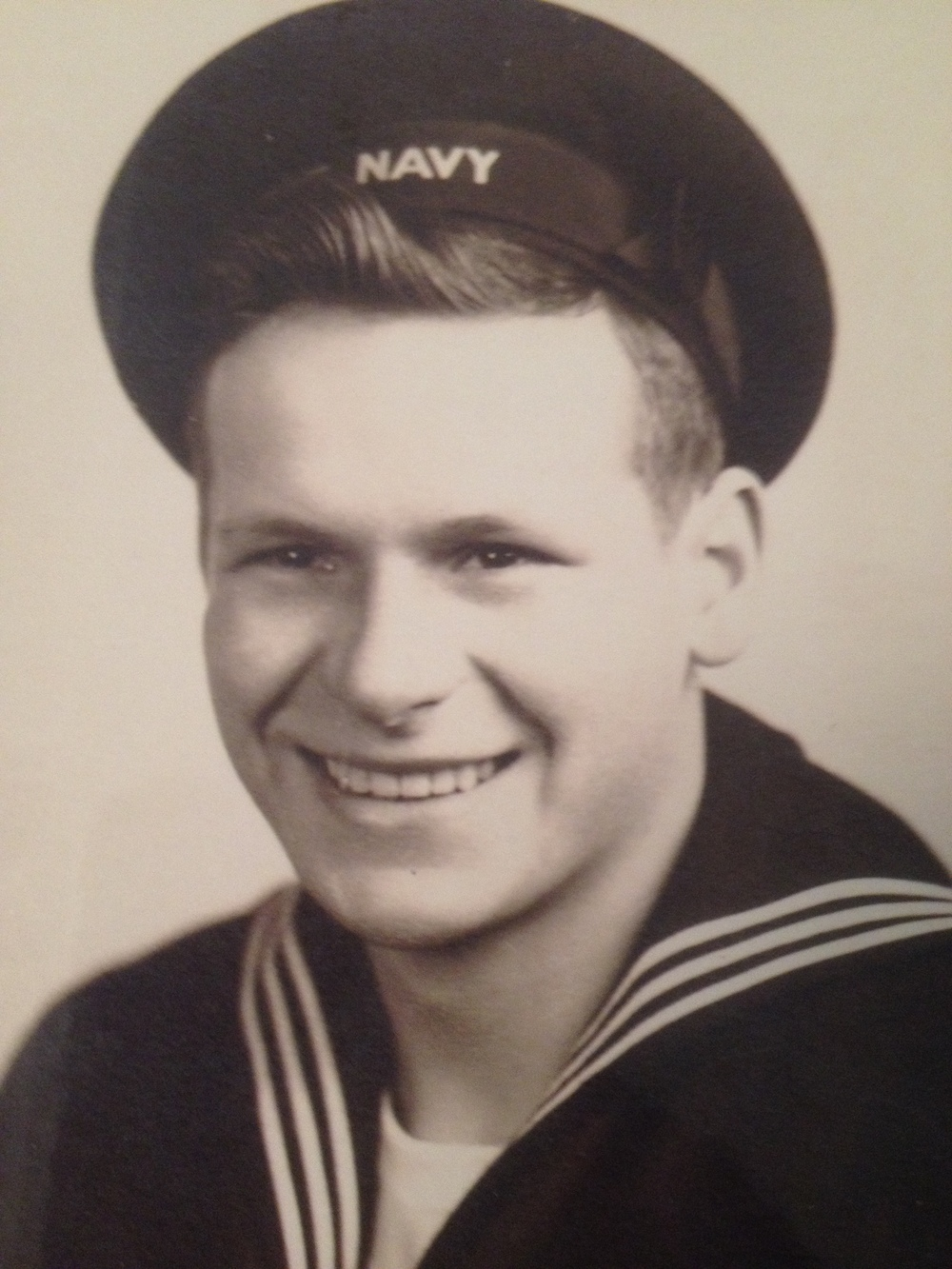Gunner's Mate Rudy Rolenz in his official Navy photo.  Photo courtesy of Rudy Rolenz.