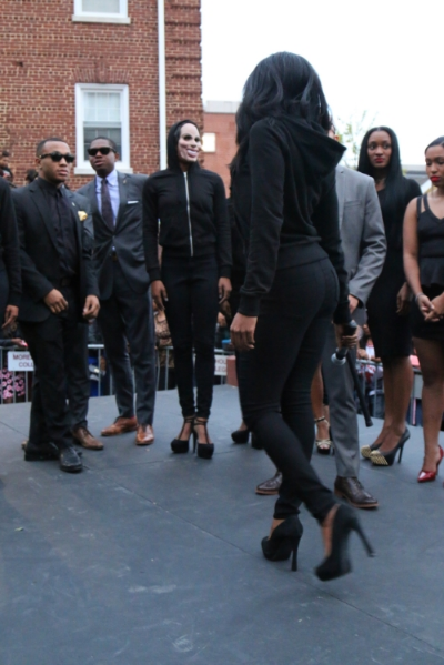 Strutting (and terrified!) at the Alpha Rho Miss Black and Gold unveiling (Alpha Rho, Morehouse College)