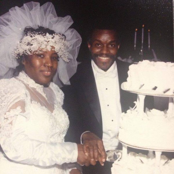 My paternal grandparents at their 25th wedding anniversary. Both my grandma and grandpa are from Harlem, New York.
