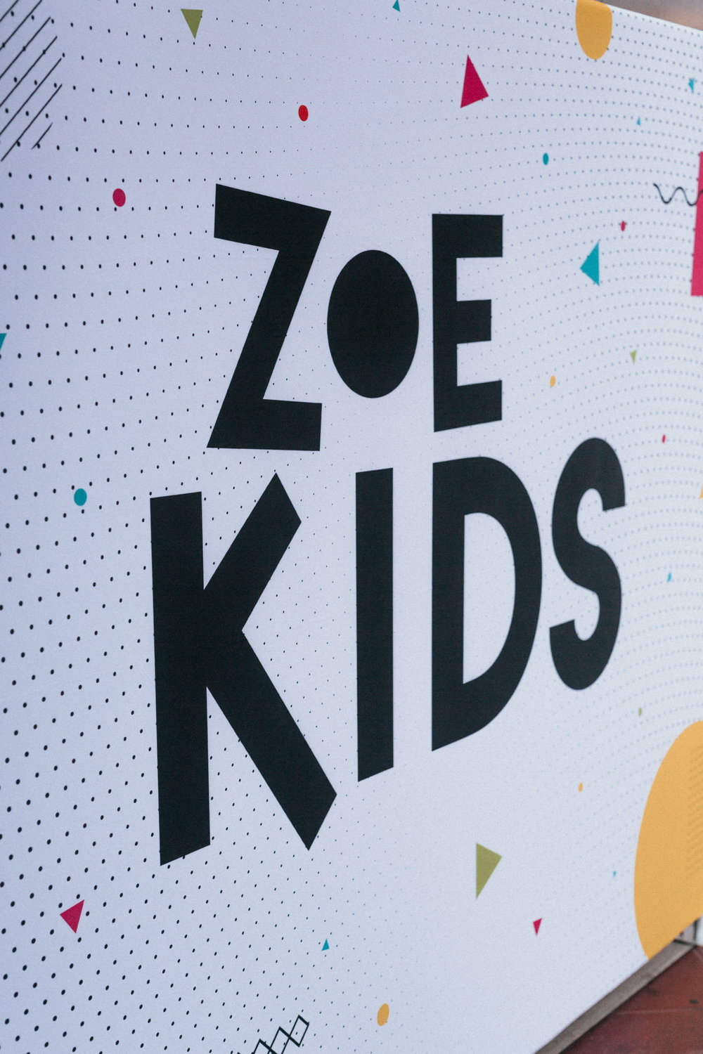 ZOE KIDS   At each of our weekend services we offer ZOE KIDS services for children 6 months-5th grade. We create a safe environment for children to learn the truths of the Bible and have fun worshiping Jesus. If you have any questions about ZOE Kids, please contact info@zoechurch.org.