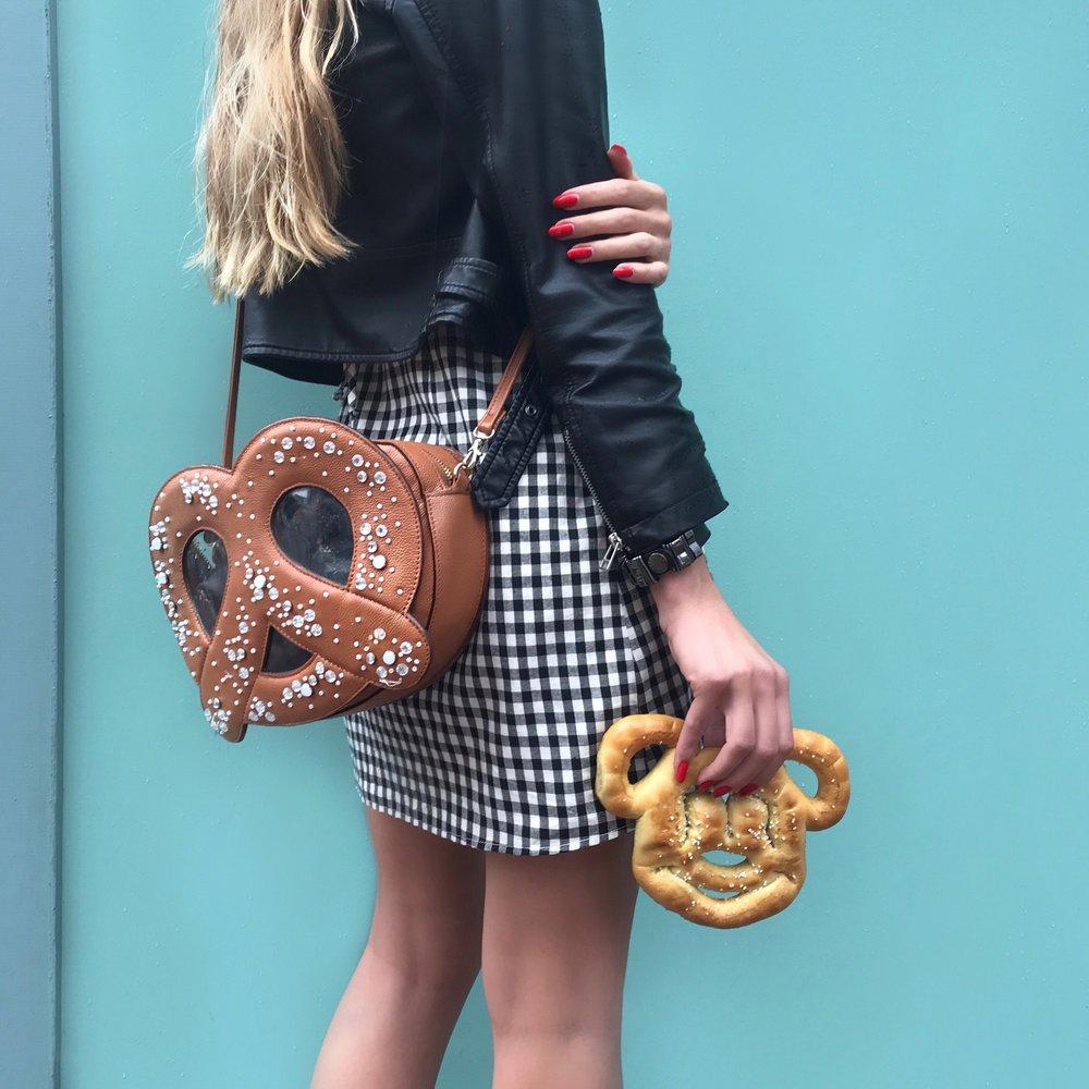 Double pretzels / Handbag by  Patricia Chang
