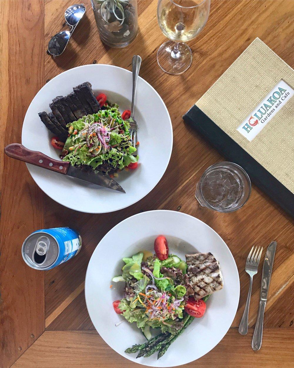 Garden lunch at  Holuakoa Cafe