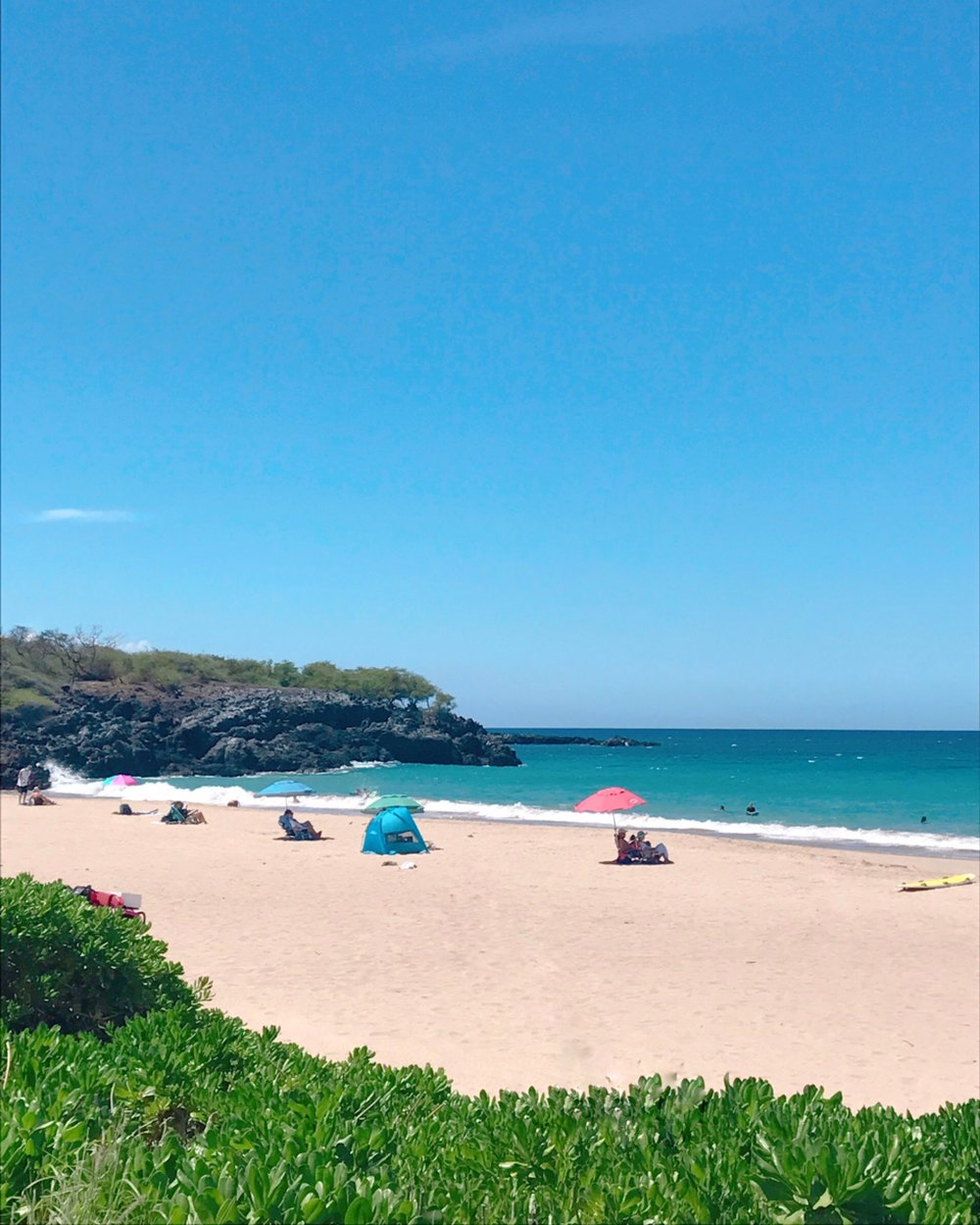 Chill time at Hapuna Beach