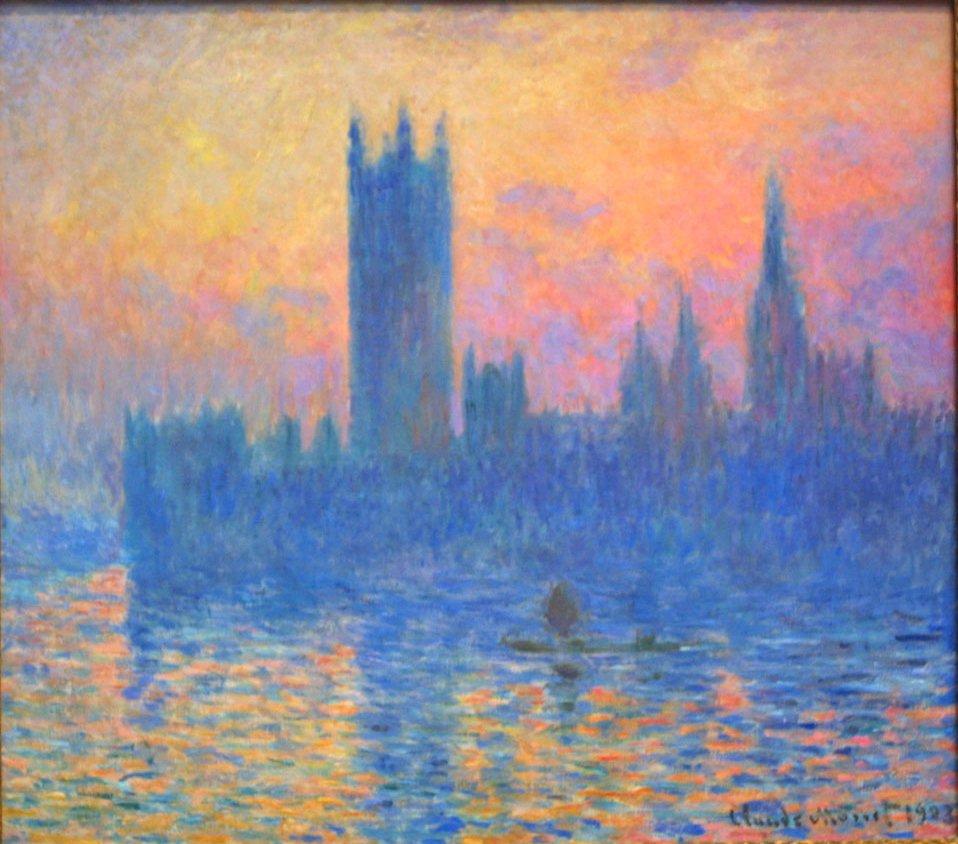 Monet - Parliament at Sunset