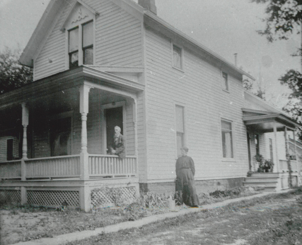James and Abigail Curwood at their home on John Street (known today as Curwood Drive)