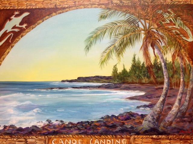 Canoe Landing, Kalapana, Hawaii