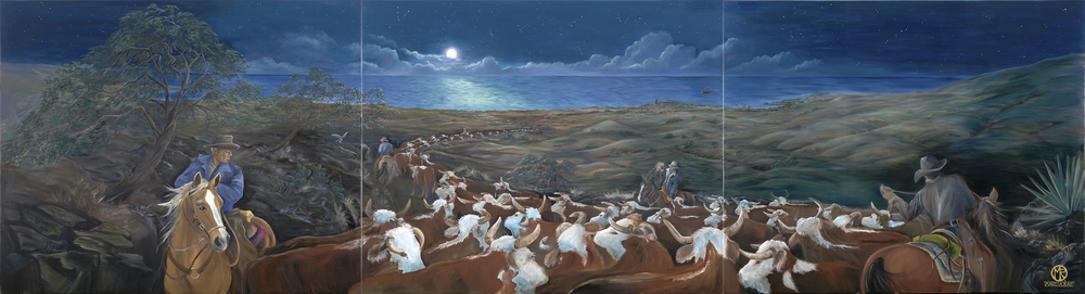 Moonlight Cattle Drive