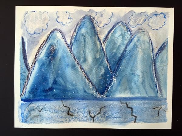 Olivia's watercolour (age 10)