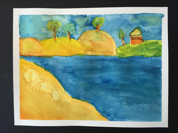 Julia's watercolour (age 11)