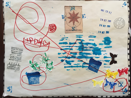 Luca's map (age 4)