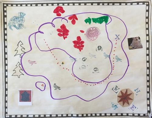 Isla's map (age 4)