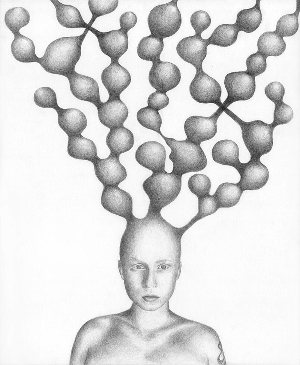 "The Origin of Us   Graphite on Paper  14"" x 17""  2018"