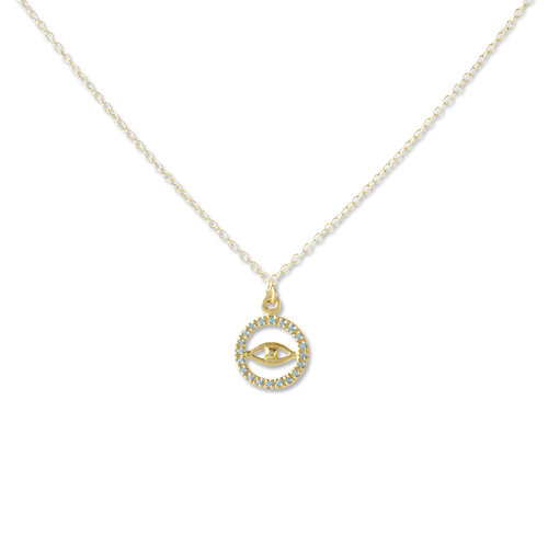 Round evil eye pendant necklace argento vivo round evil eye pendant necklace aloadofball Images