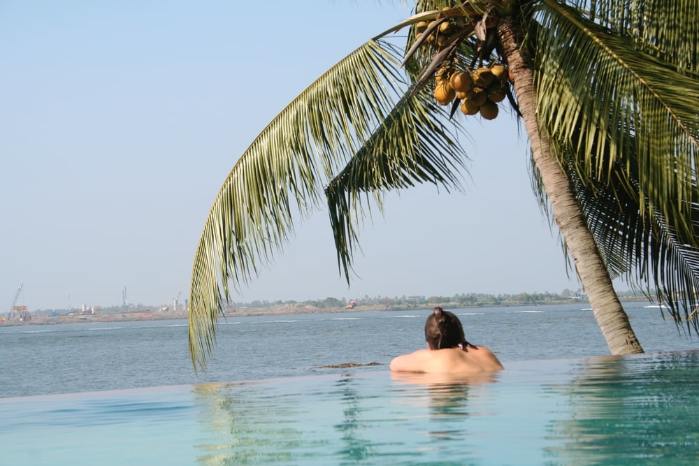 Chilling out at the Taj Malabar in Kochi