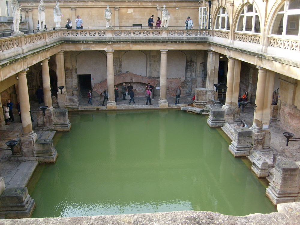 The Roman baths were so cool, it was so weird to think that the Romans would actually bathe in the public baths so long ago.