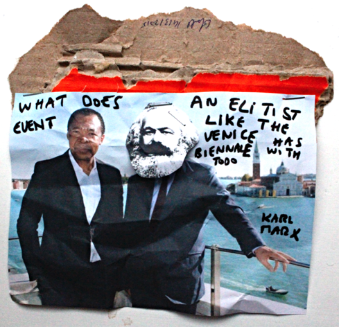 What does an elitist event like the Venice biennale has to do with Karl Marx