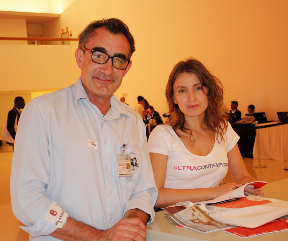 Artist Thierry Geoffroy/ COLONEL and curator Tijana Miskovic, founders of CUB