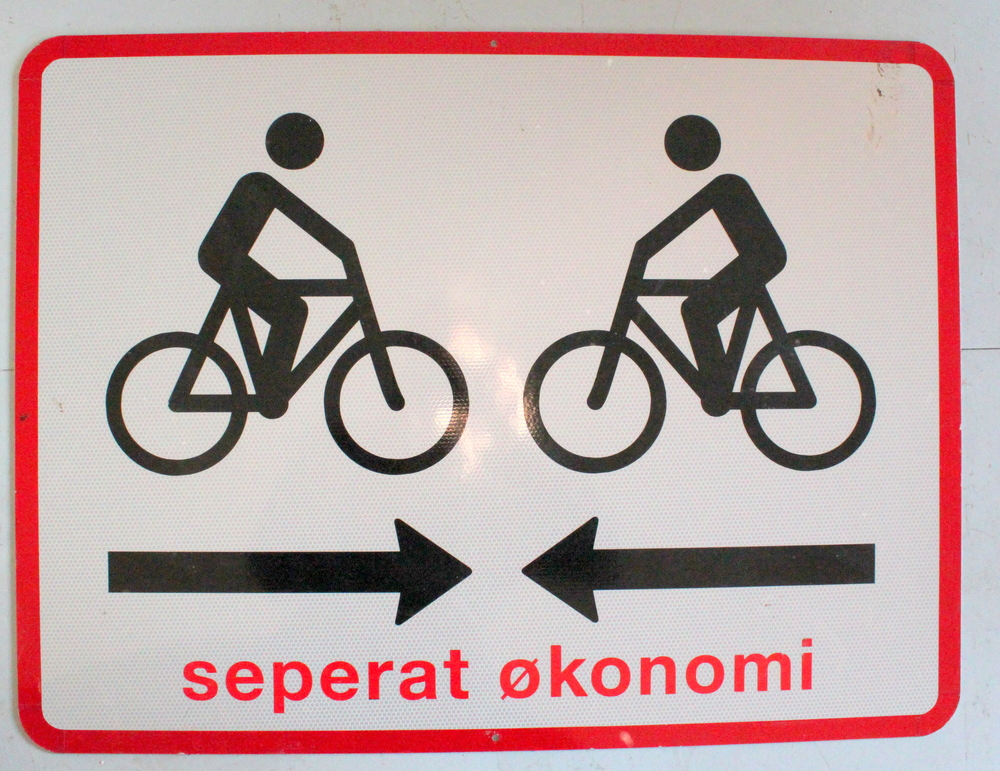 Seperat økonomi , metal sign