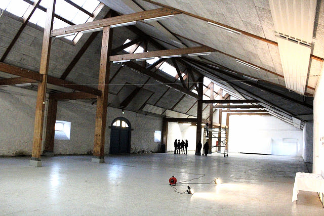 Indoor production space in HQ building for THE ACADEMY OF EMERGENCY ART, Holbæk, Denmark