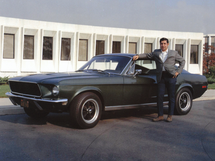Bullitt 559's second owner, Frank Marranca, proudly poses for some of the only photos ever made public of the car post-movie, circa 1973. Property of Frank Marranca