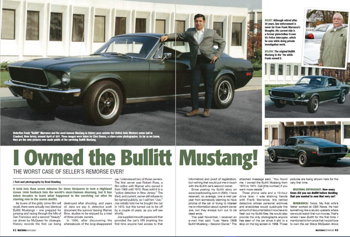 Here is my article in the April 2010 issue of Mustang Enthusiast magazine. The text of the interview is reprinted on this web page. Property Brad Bowling