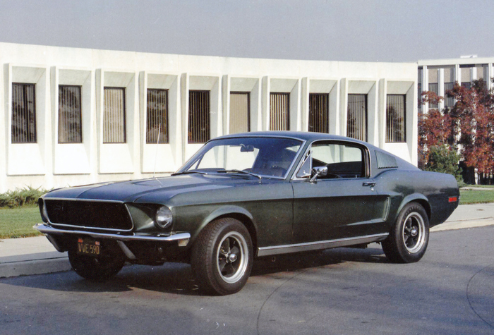This image of surviving Bullitt no. 559 (circa 1973) is from the only known photo session of the car after it left the movie studio. Property of Frank Marranca
