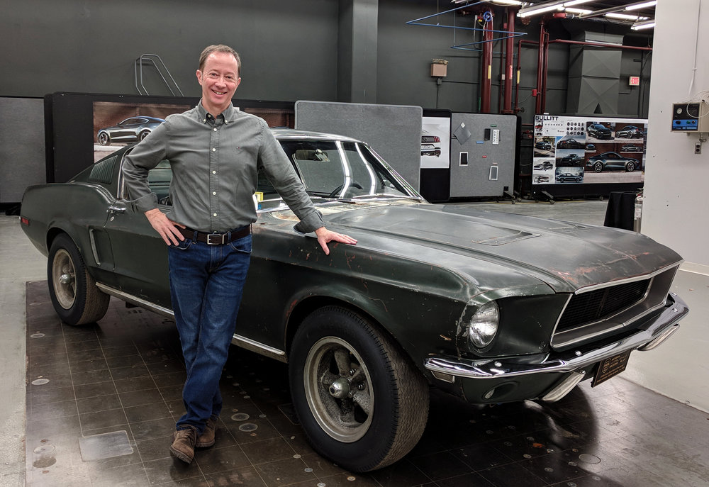 On Jan. 11, 2018, after a lifetime of waiting, I saw the surviving Bullitt Mustang during a top-secret trip arranged by Ford Motor Co. and owner Sean Kiernan. Now, the rest of the public can see it, as well! (For more photos of my first visit with #559, see the gallery toward the bottom of this page.)  Property Brad Bowling