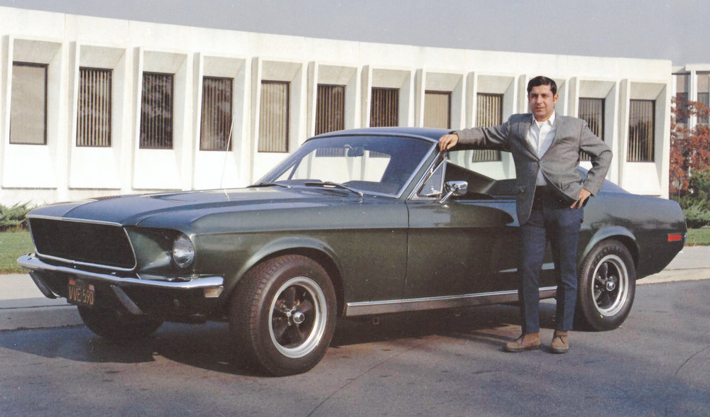 Bullitt 559's second owner, Frank Marranca, proudly poses for some of the only photos ever made public of the car post-movie, circa 1973.    Property Frank Marranca