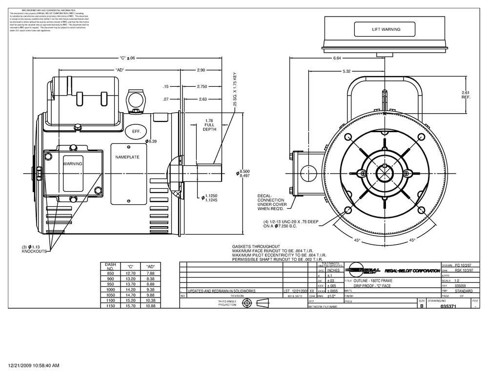 Leeson Technical Dwg 1