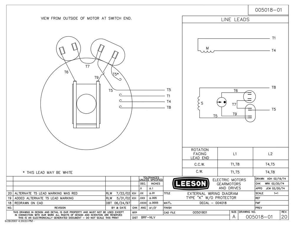 Leeson Technical Dwg 2